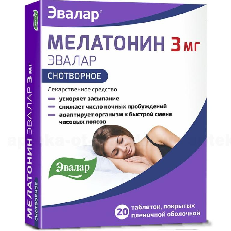 Мелатонин Эвалар таб 3мг N20