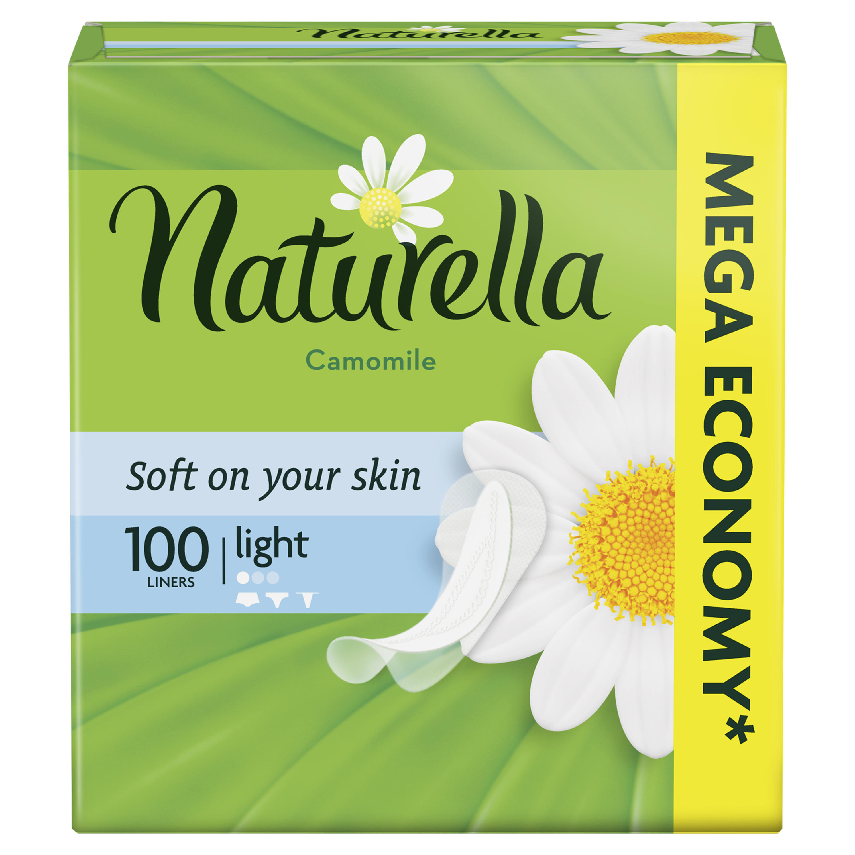 Женские ароматизированные ежедневные прокладки NATURELLA Light (с ароматом ромашки), 100 шт.