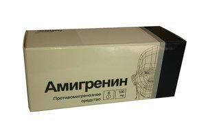 Амигренин таблетки 100 мг N 6