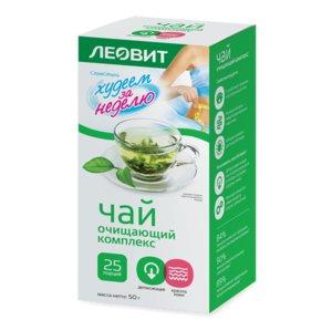 Леовит Худеем за неделю Чай зеленый очищающий комплекс с витаминами С и В6 N 25