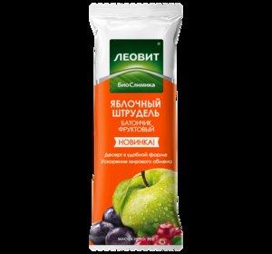 Леовит БиоСлимика батончик яблочный штрудель 30 г N 1