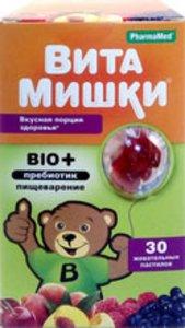 Вита мишки био+ паст жеват N 30