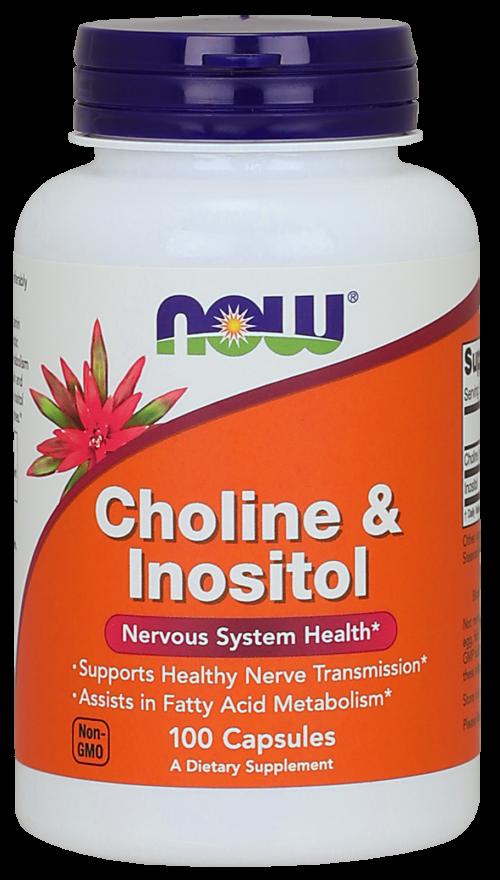 Now Холин + инозитол капс N100