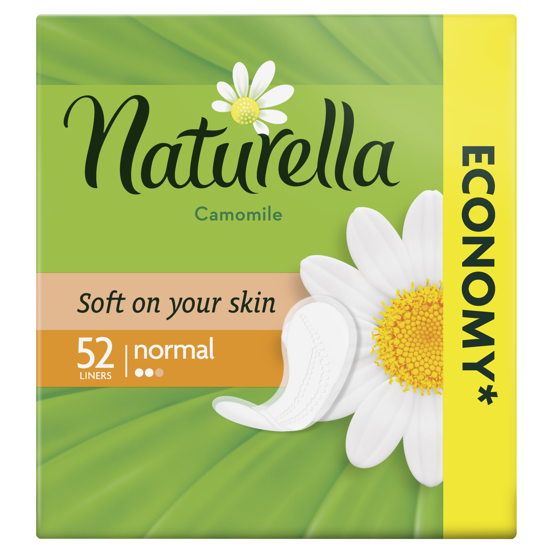 Женские ароматизированные ежедневные прокладки NATURELLA Normal (с ароматом ромашки), 52 шт.