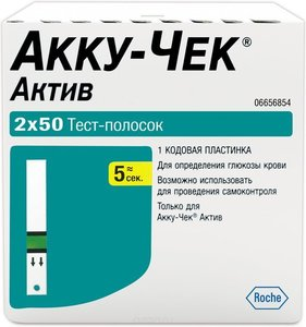 Тест-полоски Accu-Chek Active (Акку-Чек Актив) N100