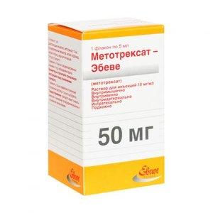 Метотрексат-Эбеве раствор для инъекций 10 мг/мл 5 мл флакон N1