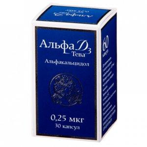 Альфа Д3-Тева капсулы 0,25 мкг N30