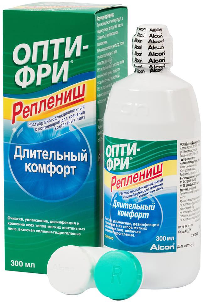 Опти-Фри Реплениш фл 300мл раствор для ухода за контактными линзами