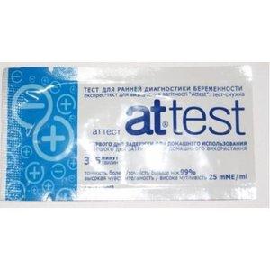 Тест-полоска для опред беременности attest N 1