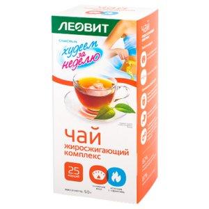 Леовит Худеем за неделю Черный чай (жиросжигающий комплекс) N25