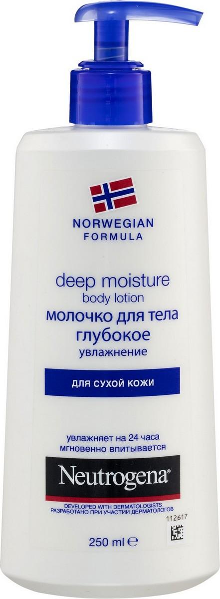 Neutrogena Норвежская формула молочко для тела 250мл глубокое увлажнение для сухой кожи