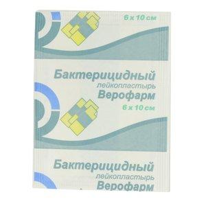 Лейкопластырь бакт. 6*10 ткан. основа с р-ром брилл. зеленого