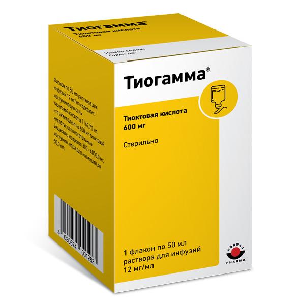 Тиогамма р-р для инфузий фл 12мг/мл 50мл N1