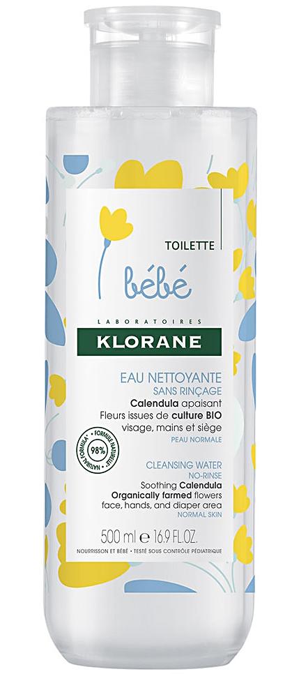 Bebe детская мицеллярная вода с комплексом физио календулин 500мл Klorane (Клоран)