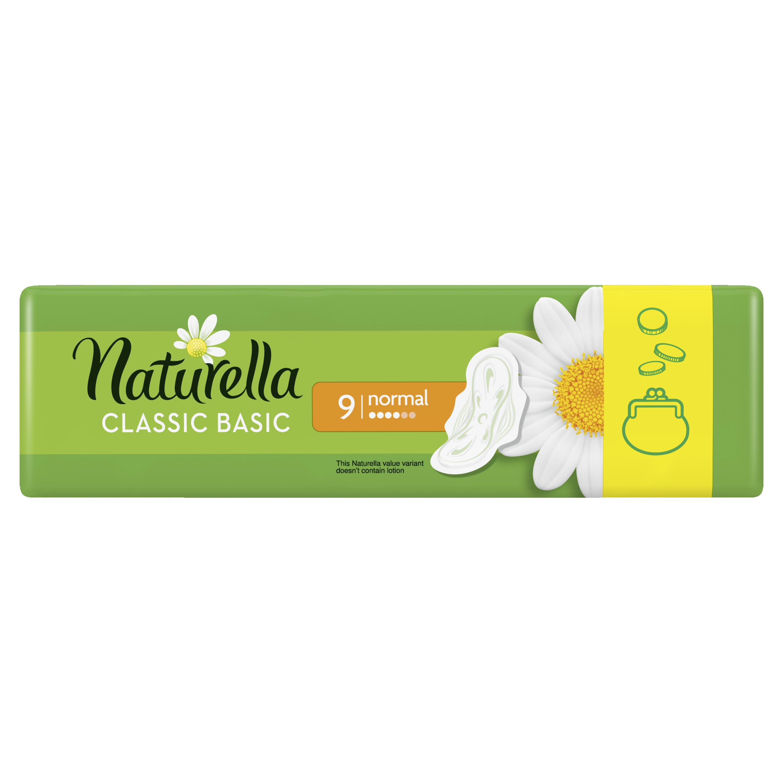 Женские ароматизированные прокладки NATURELLA CLASSIC Basic Normal Single, 9 шт.