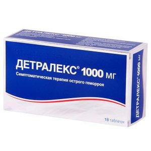 Детралекс таб 1000мг N18