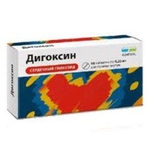 Дигоксин таб 0,25мг N56 Обновление