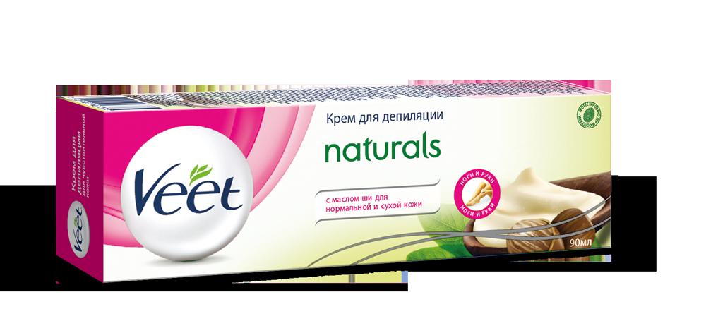 Крем для депиляции Veet Naturals с маслом ши 90мл