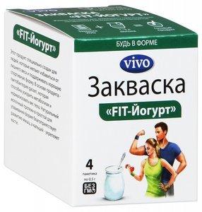 Vivo FIT-Йогурт Закваска 500 мг пакетики, 4 шт.