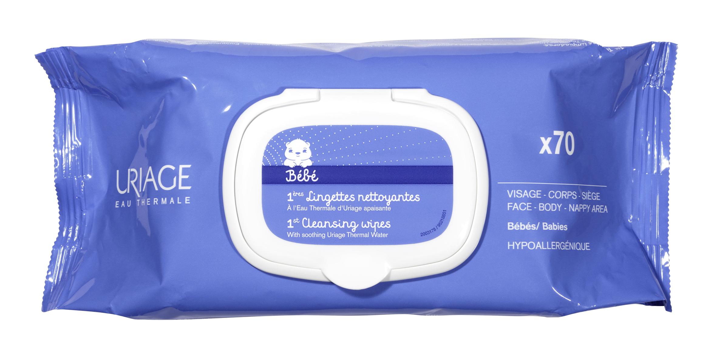 Салфетки очищающие первые упаковка 70шт (Урьяж)