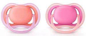 Avent Соска-пустышка силиконовая ортодонтическая для девочек 6-18 мес., SCF245/22 2 шт.