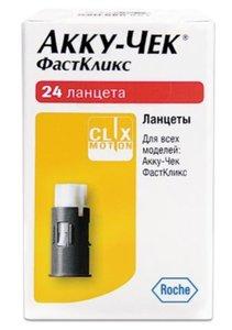 Ланцеты Accu-Chek FastClix (Акку-Чек ФастКликс) N24