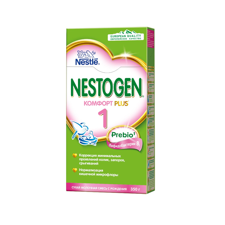Nestogen 1 Комфорт Plus смесь от колик, запоров, срыгиваний с бифидобактериями с 0мес 350г (Нестожен)