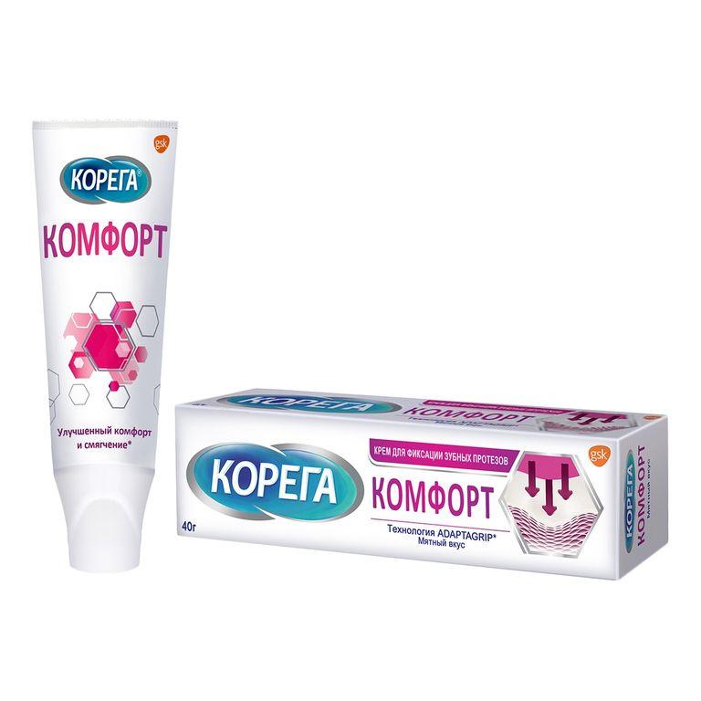 Корега Комфорт крем для фиксации зубных протезов 40г