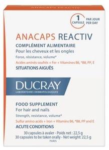 Ducray Anacaps Reactiv Капсулы для женщин для кожи головы и волос N30