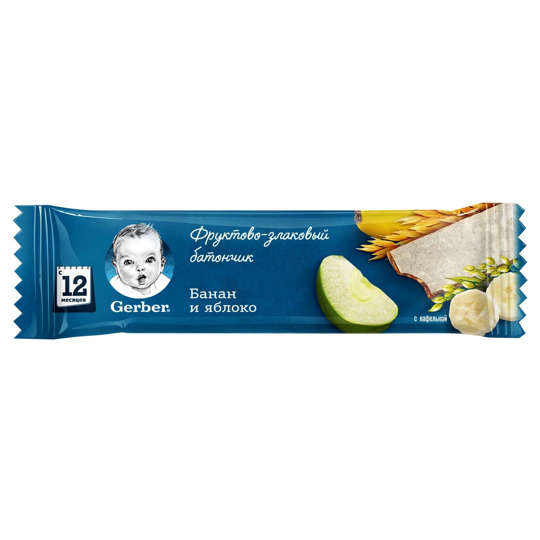 Gerber Фруктово-злаковый батончик с яблоком и бананом с 12мес 25 г (Гербер)