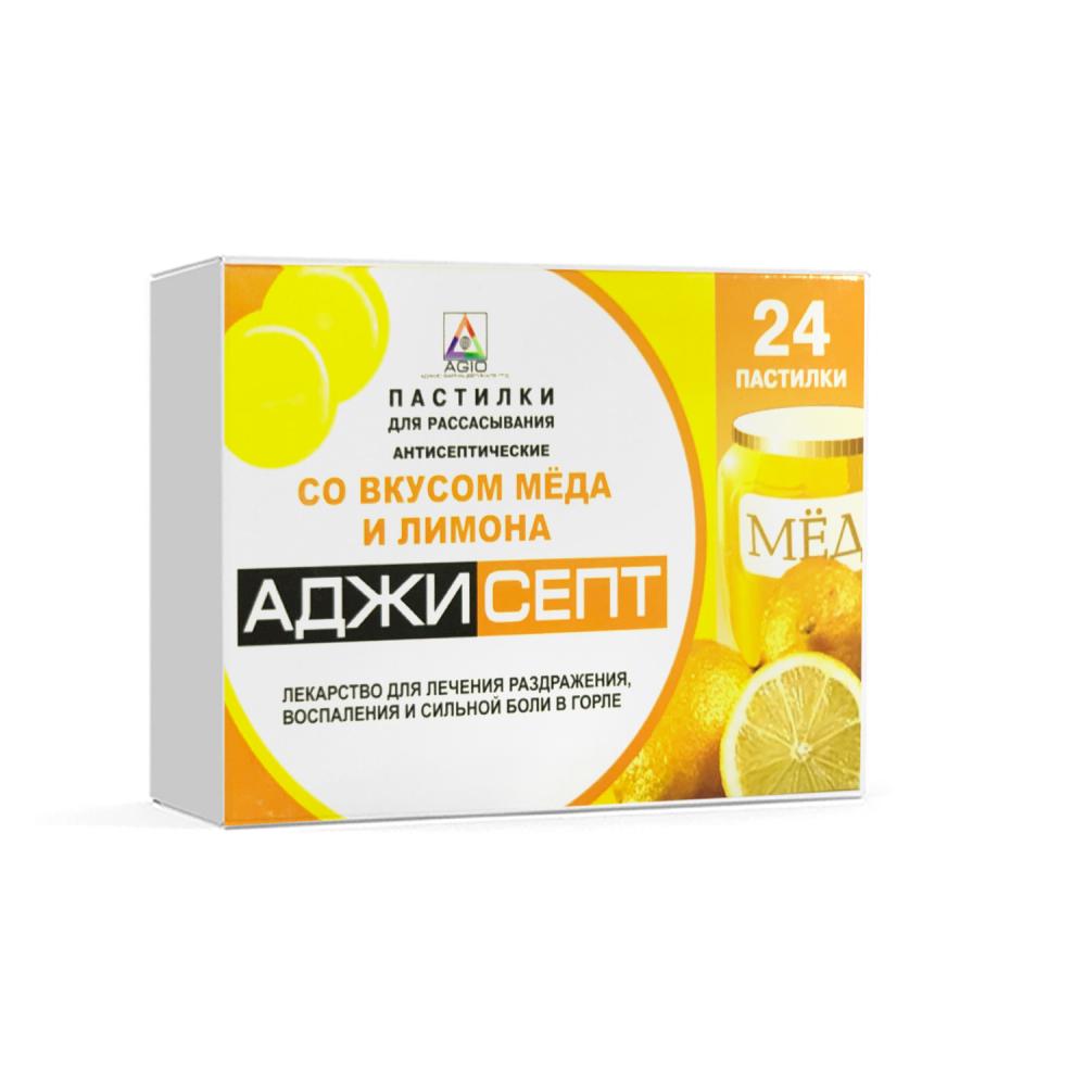 Аджисепт таб д/рассасывания медово-лимонные N24