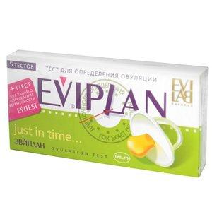 Тест на овуляцию Eviplan тест-полоски 5 шт.