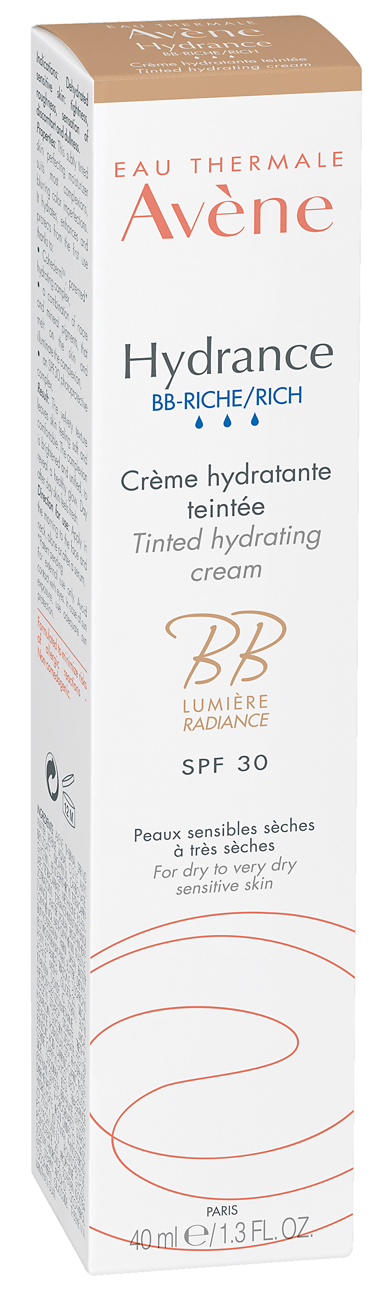Hydrance BB-riche крем питательный тонирующий SPF30 40мл Avene (Авен)