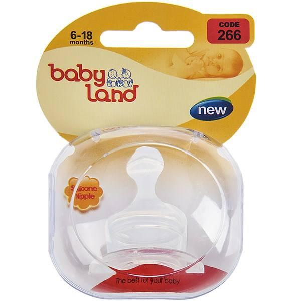 Baby Land соска силиконовая ортодонт 6-18мес 266