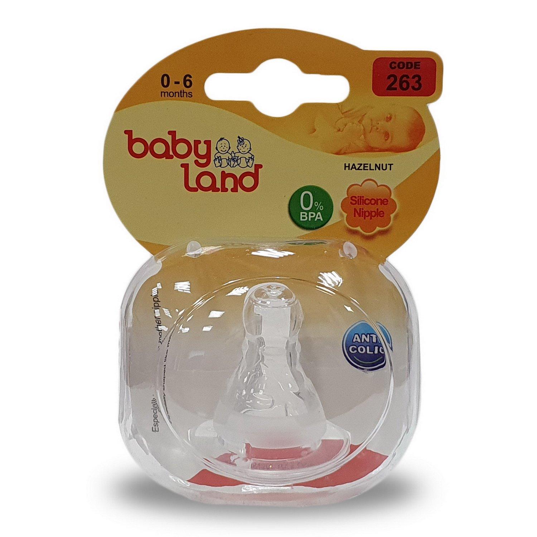 Baby Land соска силиконовая классик 0-6мес 263