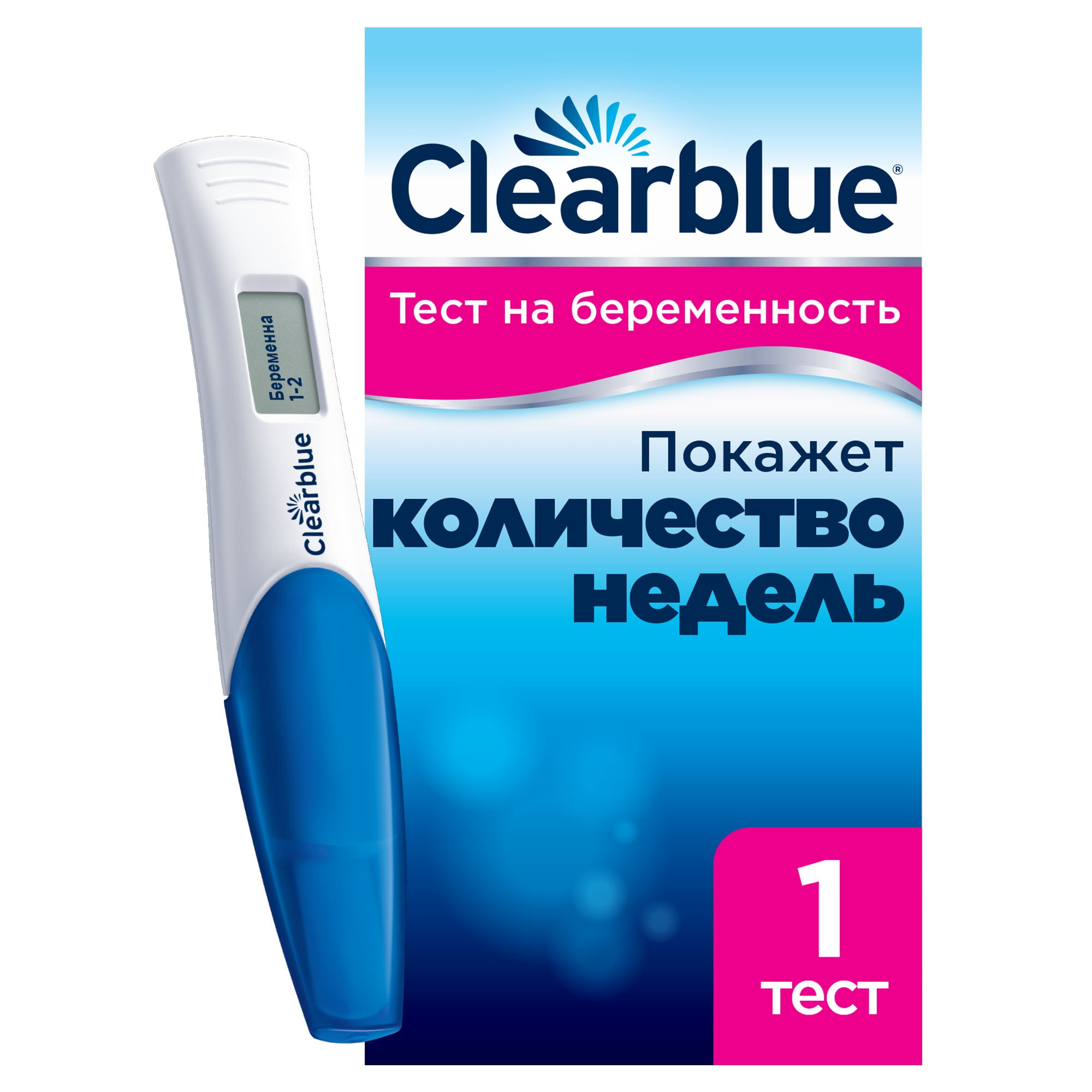 Устройство цифровое для определения срока беременности «Клиаблу» (Clearblue), 1 тест