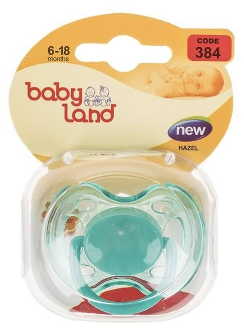 Baby Land пустышка силиконовая классик 6-18мес 384