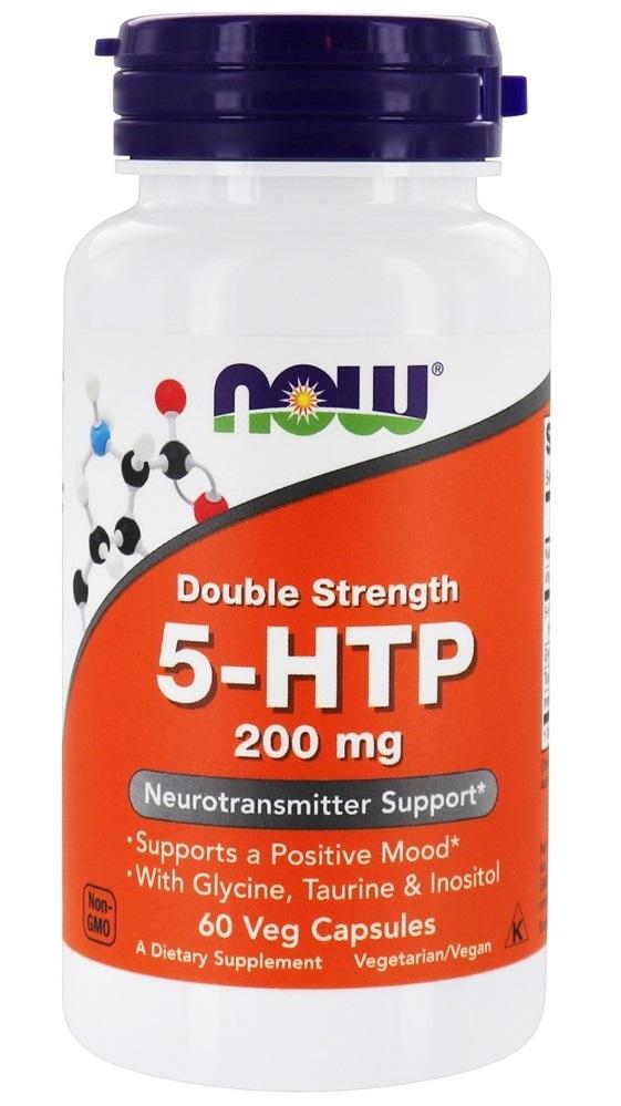 Now 5-HTP 200мг 5-гидрокситриптофан капс N60 с глицином, таурином, инозитолом