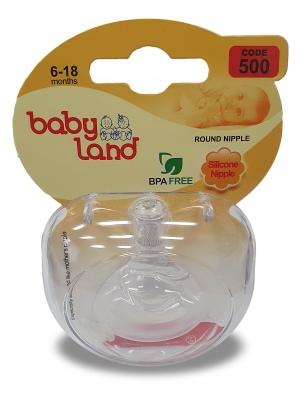 Baby Land соска силиконовая классик 6-18мес 500