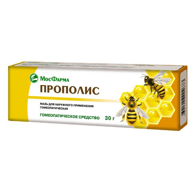 Прополис мазь гомеопатическая 30г Московская фарм фабрика