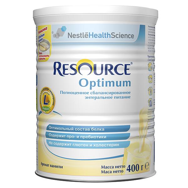 Ресурс Оптимум сбалансированное полноценное питание с ароматом ванили для детей с 7лет и взрослых 400г (Resource Optimum)