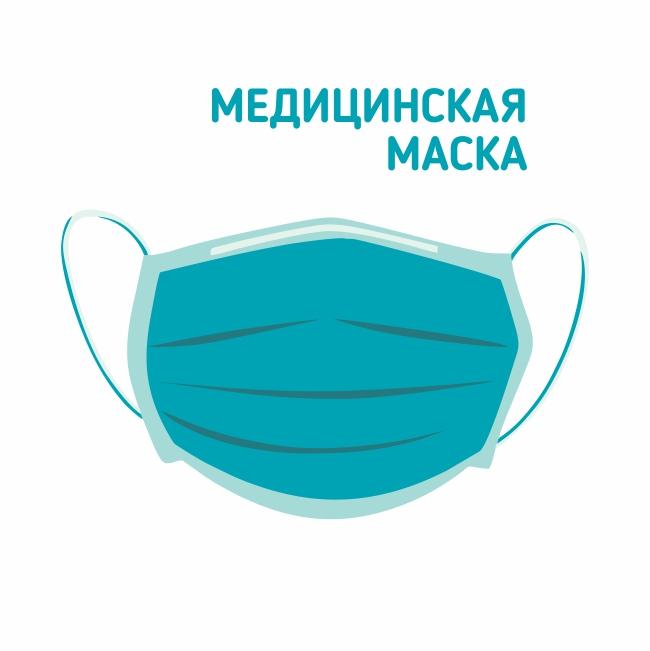 Маска медицинская трехслойная на резинках N1 ТД ПФ ООО