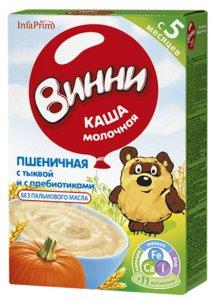 Винни каша молочная Пшеница/Тыква/Пребиотик 220г