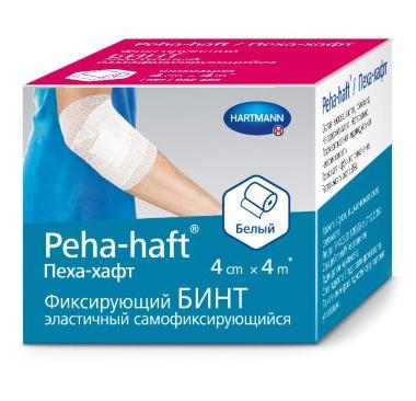 Peha-haft бинт 4см x 4м самофиксирующийся белый (Пеха-хафт)