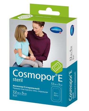 Cosmopor E повязка 7,2x5см 5шт пластырьного типа стерильная (Космопор Е)