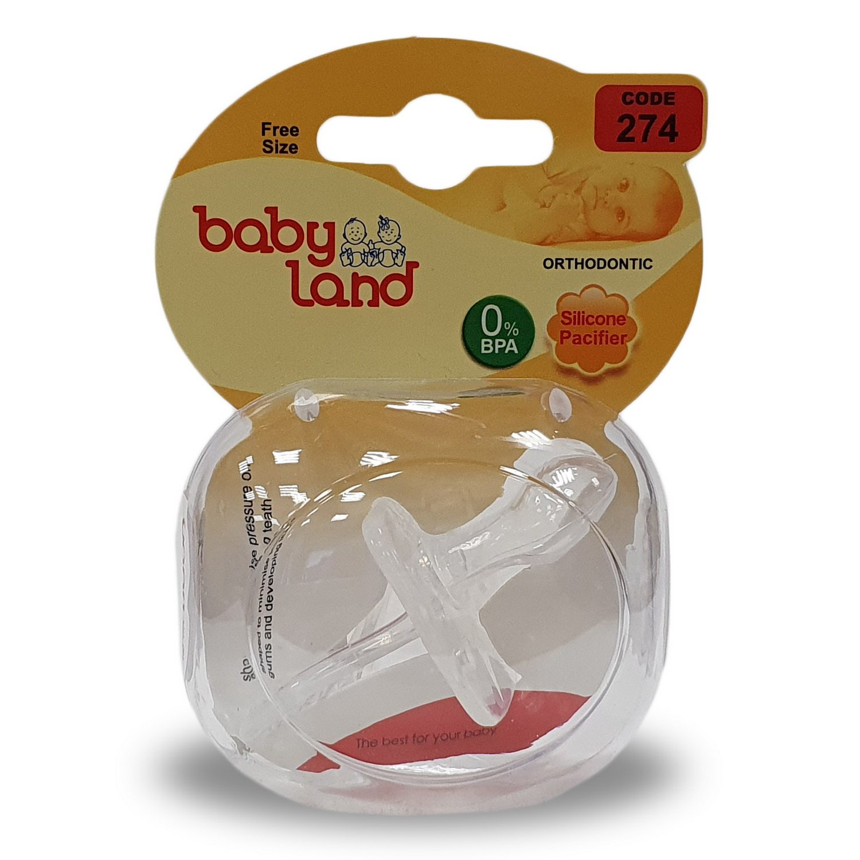 Baby Land пустышка цельносиликоновая ортодонт 274