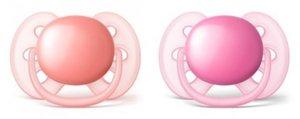 Avent Ultra Soft Пустышка для девочки розовый\оранжевый 6-18 мес., SCF213/22 2 шт.