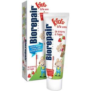 Biorepair Junior Strawberry Зубная паста детская со вкусом клубники от 0-6 лет 50 мл