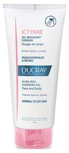 Ducray Ictyane Гель для лица и тела очищающий сверхпитательный 200 мл