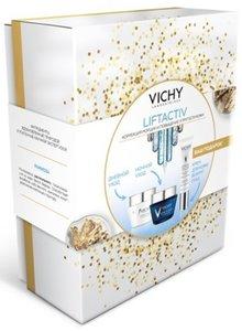 Vichy Liftactiv Supreme Набор: Крем 50 мл для нормальной кожи + Лифтактив дерморесурс ночной 50 мл + Сыворотка для глаз и ресниц 15 мл